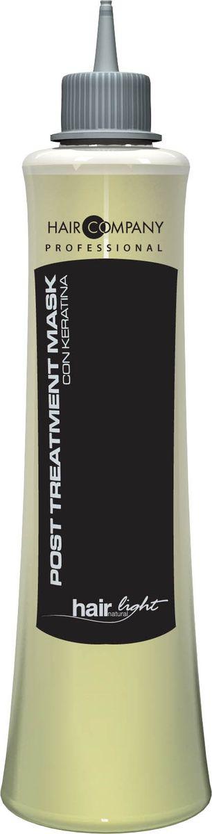 Hair Company Маска восстанавливающая для волос Hair Light Post Treatment Mask 250 мл251765/LB11408 RUSВосстанавливающая маска Hair Company Hair Light Post Treatment Mask с кератиновыми протеинами, придает эластичность волосам, делая их мягкими и питая естественными аминокислотами, содержащимися в молекулярной структуре волос. Выравнивает уровень рН, сглаживает чешуйки, избегая преждевременного смывания пигмента после химической завивки, выпрямления и окрашивания, помогает волосам восстановить необходимый водный баланс. Способ применения: Нанести на вымытые шампунем Post Тгеаtmепt и подсушенные волосы. Оставить на 3-5 минут и смыть водой.
