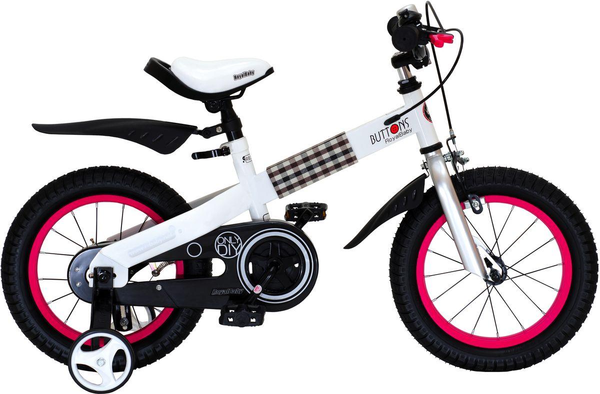 Велосипед детский Royal Baby Buttons Steel 12, цвет: красныйRB12-15 КрасныйДетский велосипед Royal Baby Buttons – отличный вариант в соотношении цена-качество. В основе велосипеда – высококачественная и прочная алюминиевая рама. Благодаря этому, велосипед можно использовать нескольким поколениям детей в возрасте от 2 до 4 лет. Руль и сиденье легко регулируются по высоте, в зависимости от роста малыша. Дополнительные боковые колеса позволяют научиться держать равновесие и со временем ездить только на двух основных колесах. Royal Baby Buttons – идеальный вариант для езды в городе и по пересеченной местности.Детский велосипед с приставными колесами. Стальная рама белого цвета, надувные колеса, комплект задних приставных колес, ручной тормоз, звонок, удобное регулируемое седло. Рекомендации по росту 95-110 см