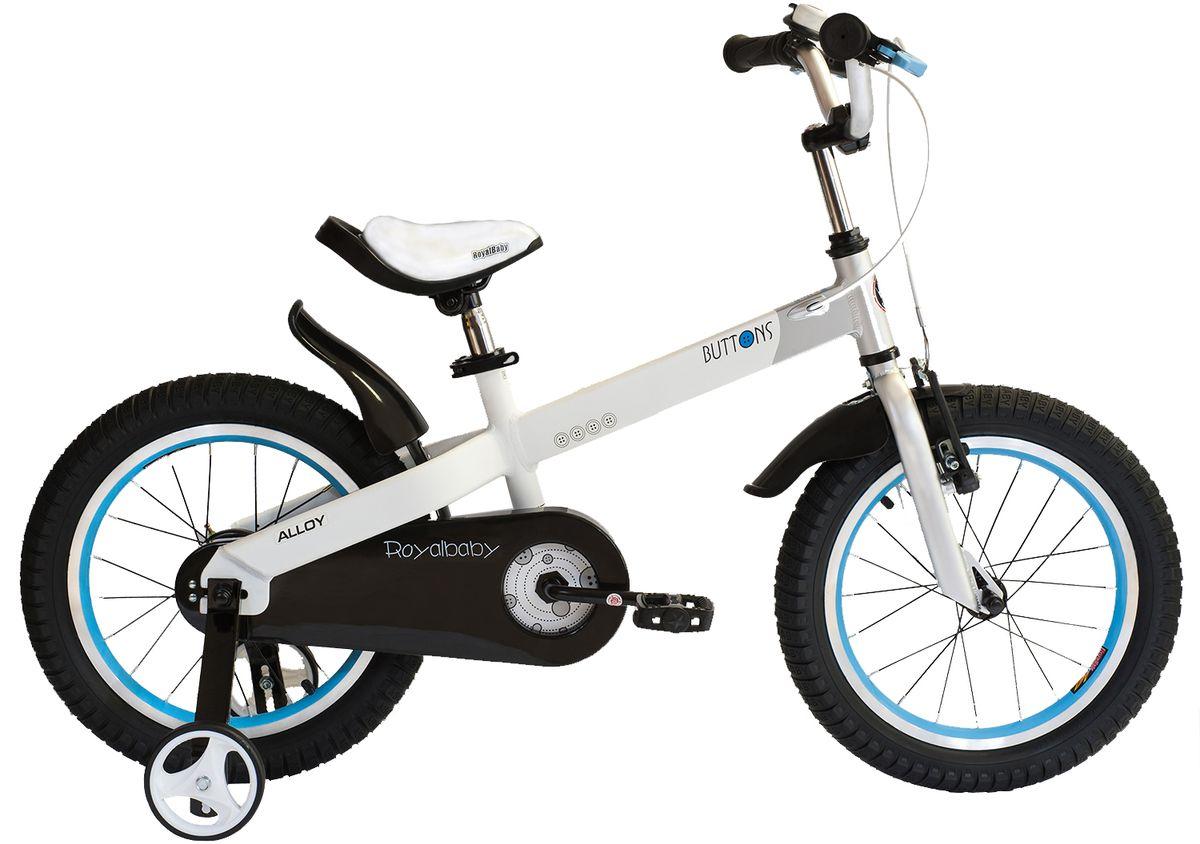 Велосипед детский Royal Baby Buttons Alloy 12, цвет: белыйRB12-16 БелыйДетский велосипед Royal Baby Buttons Alloy – отличный вариант в соотношении цена-качество. В основе велосипеда – высококачественная и прочная алюминиевая рама. Благодаря этому, велосипед можно использовать нескольким поколениям детей в возрасте от 2 до 4 лет. Руль и сиденье легко регулируются по высоте, в зависимости от роста малыша. Дополнительные боковые колеса позволяют научиться держать равновесие и со временем ездить только на двух основных колесах. Royal Baby Buttons Alloy – идеальный вариант для езды в городе и по пересеченной местности. подходит для езды по городу и пересеченной местности; RoyalBaby Buttons оснащен удобным сиденьем эргономичной формы, которое позволяет снять нагрузку с позвоночника ребенка во время длительного катания; руль оснащен ручками с нескользящей поверхностью; сиденье и руль регулируются по высоте; велосипед оснащен прочной стальной вилкой; рама выполнена из качественного алюминиевого сплава; рама покрыта не токсичной гипоаллергенной краской;...