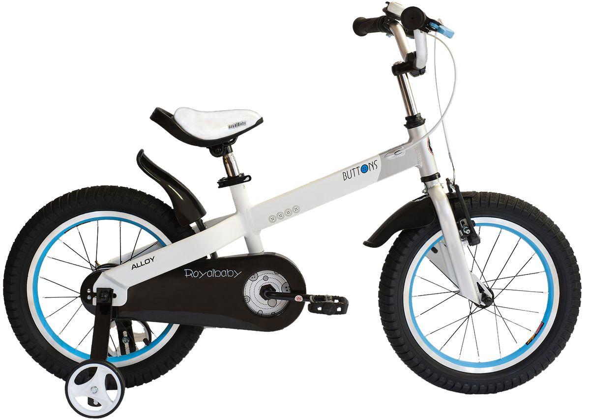 Велосипед детский Royal Baby Buttons Alloy 14, цвет: белыйRB14-16 БелыйRoyal Baby Buttons Alloy с колесами 14 дюймов – отличный вариант для езды по городу и на даче! Высококачественная алюминиевая рама дополнена двумя надувными колесами и хорошими функциональными особенностями. Детский велосипед Royal Baby Buttons Alloy 14 отлично справится с функцией первого велосипеда. В комплекте поставляются дополнительные боковые колеса, которые помогут научиться держать равновесие. Для безопасности малыша, велосипед оснащен ручным тормозом на переднее колесо, а в боковую часть педалей встроены светоотражающие катафоты. подходит для езды по городу и пересеченной местности; RoyalBaby Buttons оснащен удобным сиденьем эргономичной формы, которое позволяет снять нагрузку с позвоночника ребенка во время длительного катания; руль оснащен ручками с нескользящей поверхностью; сиденье и руль регулируются по высоте; велосипед оснащен прочной стальной вилкой; рама выполнена из качественного алюминиевого сплава; рама покрыта не токсичной гипоаллергенной краской; краска не...