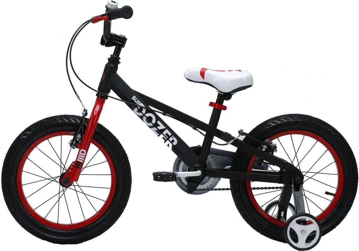 Велосипед детский Royal Baby Bull Dozer 18, цвет: черныйRB18-23 ЧерныйДетский велосипед Royal Baby порадует Вас своими функциональными особенностями, качественной сборкой, стильным дизайном и отличной ценой! Кататься на таком велосипеде комфортно и очень увлекательно. Royal Baby Freestyle обладает отличной маневренностью и практически бесшумной ездой по асфальту. Способен преодолеть высокую траву, песок и гравий. Просто незаменим при катании по городским улицам, парковым зонам и пересеченной местности. Royal Baby станет самым запоминающимся подарком для Вашего ребенка! Детский велосипед с приставными колесами. Рама выполнена из высокопрочной стали. Широкие надувные колеса. Руль и седло регулируются по высоте. Ручные ободные тормоза. В комплекте приставные колеса, комплект крыльев, насос и звонок. Рекомендованный рост ребенка 115-140 см