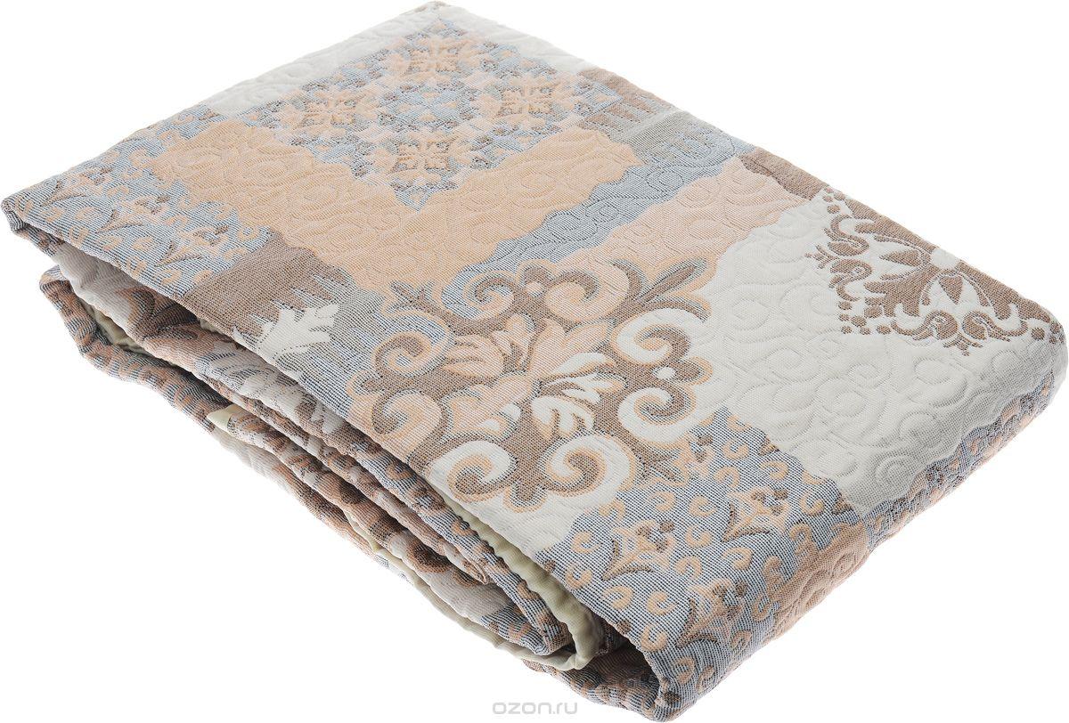Покрывало Arya Tay-Pen, цвет: белый, голубой, бежевый, 240 х 240 смF0000797Покрывало Arya Tay-Pen прекрасно оформит интерьер спальни или гостиной. Изделие изготовлено из жаккарда (100% полиэстер). Жаккардовые покрывала уникальны, так как они практичны и универсальны в использовании. Жаккардовые ткани хорошо сохраняют окраску, слабо подвержены влиянию перепадов температур. Своеобразный рельефный рисунок, который получается в результате сложного переплетения на плотной ткани, напоминает гобелен. Изделие долговечно, надежно и легко стирается. Жаккардовые покрывала в зависимости от освещения помещения имеют свойство по-разному себя проявлять, постоянно даря все новые и новые детали, которые, как казалось, раньше вы и не замечали. Покрывало Arya Tay-Pen не только подарит тепло, но и гармонично впишется в интерьер вашего дома.