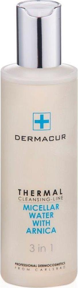 Мицеллярная вода Mictllar Water с содержанием гипоаллергенных веществ Dermacur, 200млP012Мицеллярная вода с содержанием гипоаллергенных веществ и карловарских минералов из линейки THERMAL CLEANSING LINE – это очень мягкая, не содержащая ароматизаторов вода, предназначенная для снятия макияжа со всего лица, области вокруг глаз и губ. Содержание активных мицелл, впитывающих загрязнения, обеспечивает превосходные результаты при снятии макияжа. Антиоксидантный экстракт из арники, пантенола и минеральных солей дезинфицирует, снимает раздражение, тонизирует и защищает кожу от свободных радикалов. Эффект использования мицеллярной воды MICELLAR WATER : - Эффективное увлажнение в течение всего дня. - Длительное увлажнение в ночное время суток. - Восстановление и тонизирование. - Разглаживание и профилактика морщин. - Устранение сухости кожи. - Регенерация и восстановление кожи лица. Применение мицеллярной воды: Нанесите на лицо, глаза и губы с помощью ватных тампонов, и мягко очистите кожу от загрязнений. Смывать нет необходимости.