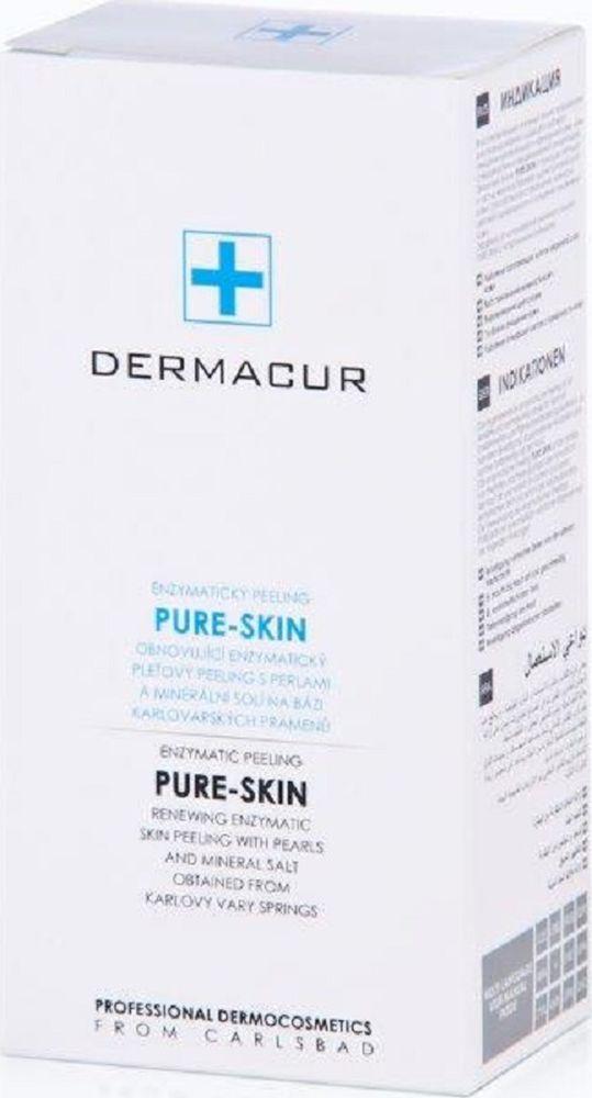 Скраб восстановительный энзимный пилинг Pure-Skin с экстрактом жемчуга Dermacur, 75 мл.Р011Энзимный пилинг PURE-SKIN с помощью пептидов и частиц жемчуга бережно удаляет роговой слой кожи, способствуя восстановлению нежности, цветовой однородности и улучшению увлажнения кожи. Эффекты от использования энзимного пилинга PURE-SKIN с натуральными энзимами: - удаление ороговевших клеток верхнего слоя кожи - восстановление нежности кожи - выравнивание цвета кожи - глубокое очищение кожи - удаление отмерших клеток с поверхности кожи Наносить на очищенную и тонизированную кожу 1-2 раза в неделю. Легкими движениями нанести необходимое количество средства на соответствующую область лица, шеи или декольте, оставить действовать на 5-15 минут. Для достижения лучших результатов, особенно в выравнивании рельефа кожи, можно с помощью легкого массажа провести механическое отшелушивание частицами жемчуга в составе геля.