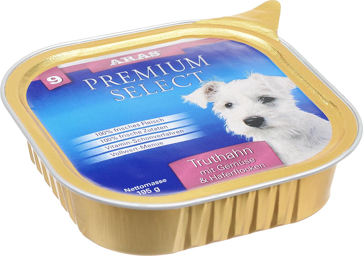 Консервы для собак Aras Premium Select, с индейкой, овощами и овсяными хлопьями, 195 г101209Повседневный консервированный корм Aras Premium Select подходим для собак всех пород и всех возрастов. При производстве корма используются исключительно свежие натуральные продукты: мясо, овощи, овсяные хлопья и экстракт масла зародышей зерна пшеницы холодного отжима (Bio- Dura). Благодаря уникальной технологии, схожей с технологий Souse Vide, при изготовлении сохраняются все натуральные витамины и минералы. Это достигается благодаря бережной обработке всех ингредиентов при температуре менее 80 градусов. Такая бережная обработка продуктов не стерилизует продуктовые компоненты, поэтому корма не нуждаются ни в каких дополнительных вкусовых добавках и сохраняют все необходимые полезные вещества. Не содержит химических красителей, усилителей вкуса, искусственных консервантов, химических добавок и ГМО. Состав: мясо (индейка/говядина) 94%, овощи 2%, овсяные хлопья 2%, экстракт зародышей пшеницы холодного отжима 2%. Пищевая ценность: белки 12,6%,...