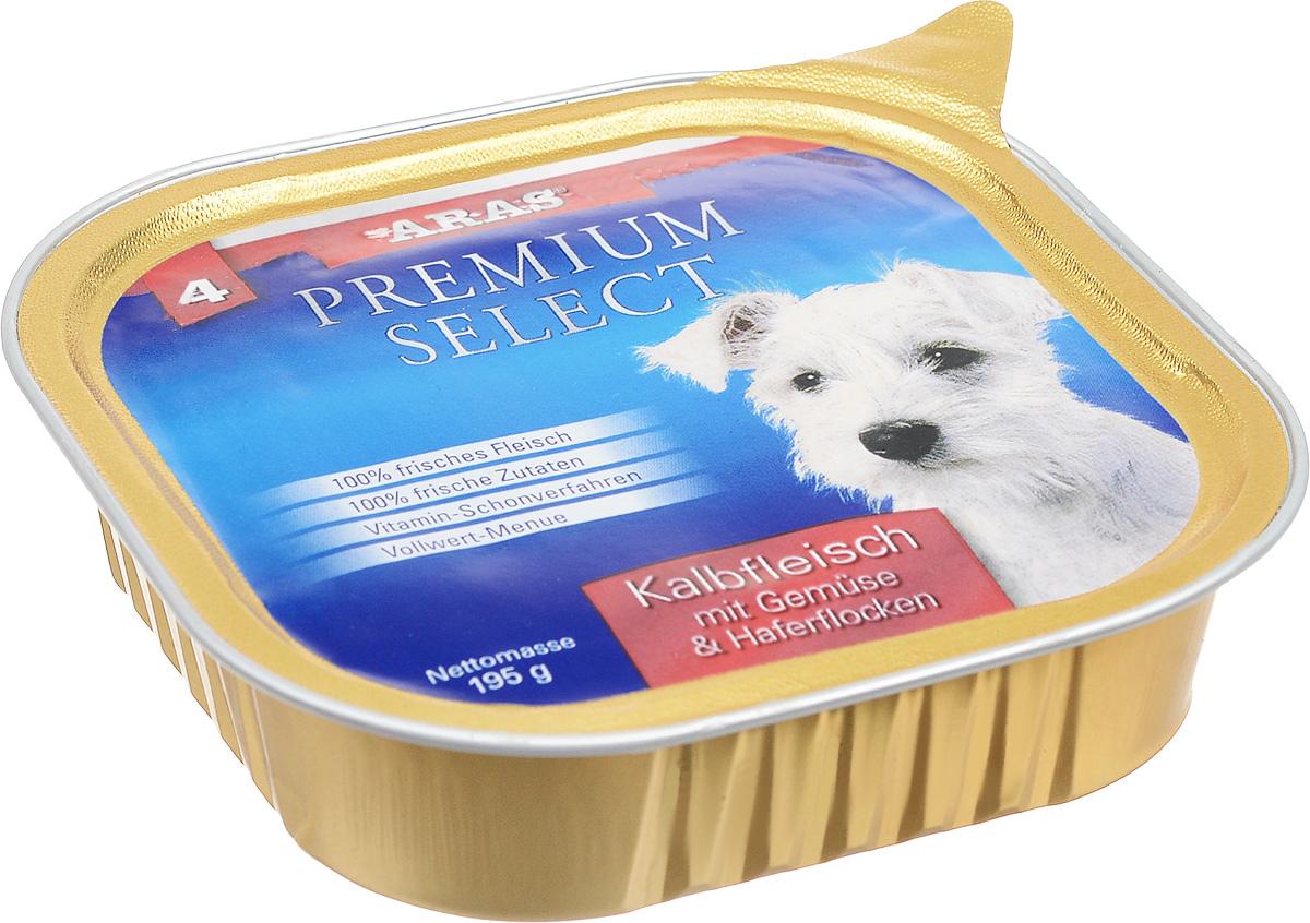 Консервы для собак Aras Premium Select, с телятиной, овощами и овсяными хлопьями, 195 г101204Повседневный консервированный корм Aras Premium Select подходим для собак всех пород и всех возрастов. При производстве корма используются исключительно свежие натуральные продукты: мясо, овощи, овсяные хлопья и экстракт масла зародышей зерна пшеницы холодного отжима (Bio- Dura). Благодаря уникальной технологии, схожей с технологий Souse Vide, при изготовлении сохраняются все натуральные витамины и минералы. Это достигается благодаря бережной обработке всех ингредиентов при температуре менее 80 градусов. Такая бережная обработка продуктов не стерилизует продуктовые компоненты, поэтому корма не нуждаются ни в каких дополнительных вкусовых добавках и сохраняют все необходимые полезные вещества. Не содержит химических красителей, усилителей вкуса, искусственных консервантов, химических добавок и ГМО. Состав: мясо (телятина) 95%, овощи 2%, овсяные хлопья 1%, экстракт зародышей пшеницы холодного отжима 2%. Пищевая ценность: белки 12,6%, жиры...