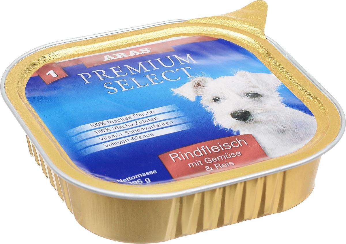 Консервы для собак Aras Premium Select, с говядиной, овощами и рисом, 195 г101201Повседневный консервированный корм Aras Premium Select подходим для собак всех пород и всех возрастов. При производстве корма используются исключительно свежие натуральные продукты: мясо, овощи, зерновые и экстракт масла зародышей зерна пшеницы холодного отжима (Bio-Dura). Благодаря уникальной технологии, схожей с технологий Souse Vide, при изготовлении сохраняются все натуральные витамины и минералы. Это достигается благодаря бережной обработке всех ингредиентов при температуре менее 80 градусов. Такая бережная обработка продуктов не стерилизует продуктовые компоненты, поэтому корма не нуждаются ни в каких дополнительных вкусовых добавках и сохраняют все необходимые полезные вещества. Не содержит химических красителей, усилителей вкуса, искусственных консервантов, химических добавок и ГМО. Состав: мясо говядины 94%, овощи 2%, рис 2%, экстракт зародышей пшеницы холодного отжима 2%. Пищевая ценность: белки 12,8%, жиры 6,4%, зола 1,9%,...