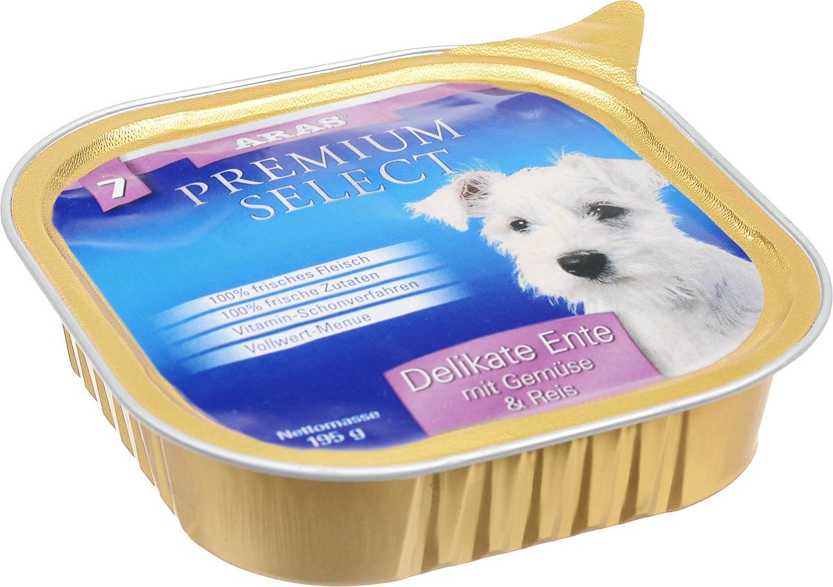 Консервы для собак Aras Premium Select, с уткой, овощами и рисом, 195 г101207Повседневный консервированный корм Aras Premium Select подходим для собак всех пород и всех возрастов. При производстве корма используются исключительно свежие натуральные продукты: мясо утки и говядины, овощи, рис и экстракт масла зародышей зерна пшеницы холодного отжима (Bio-Dura). Благодаря уникальной технологии, схожей с технологий Souse Vide, при изготовлении сохраняются все натуральные витамины и минералы. Это достигается благодаря бережной обработке всех ингредиентов при температуре менее 80 градусов. Такая бережная обработка продуктов не стерилизует продуктовые компоненты, поэтому корма не нуждаются ни в каких дополнительных вкусовых добавках и сохраняют все необходимые полезные вещества. Не содержит химических красителей, усилителей вкуса, искусственных консервантов, химических добавок и ГМО. Состав: мясо (утка/говядина) 95%, овощи 2%, рис 1%, экстракт зародышей пшеницы холодного отжима 2%. Пищевая ценность: белки 12,7%, жиры...