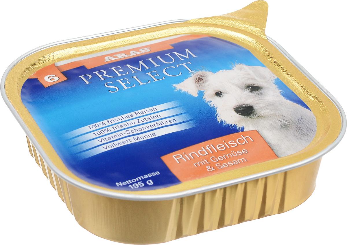 Консервы для собак Aras Premium Select, с говядиной, овощами и кунжутом, 195 г101206Повседневный консервированный корм Aras Premium Select подходим для собак всех пород и всех возрастов. При производстве корма используются исключительно свежие натуральные продукты: мясо, овощи, кунжут и экстракт масла зародышей зерна пшеницы холодного отжима (Bio-Dura). Благодаря уникальной технологии, схожей с технологий Souse Vide, при изготовлении сохраняются все натуральные витамины и минералы. Это достигается благодаря бережной обработке всех ингредиентов при температуре менее 80 градусов. Такая бережная обработка продуктов не стерилизует продуктовые компоненты, поэтому корма не нуждаются ни в каких дополнительных вкусовых добавках и сохраняют все необходимые полезные вещества. Не содержит химических красителей, усилителей вкуса, искусственных консервантов, химических добавок и ГМО. Состав: мясо (говядина) 95%, овощи 2%, кунжут 1%, экстракт зародышей пшеницы холодного отжима 2%. Пищевая ценность: белки 12,8%, жиры 6,1%, зола 1,9%,...