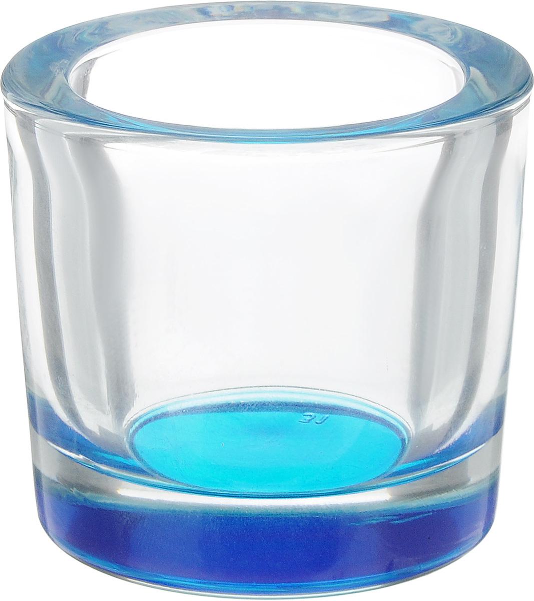 Подсвечник OSZ Klar, цвет: голубой, прозрачный04с1185 ЛГПодсвечник OSZ Klar представляет собой стеклянную емкость для чайной свечи. Такой подсвечник элегантно оформит интерьер вашего дома. Мерцание свечи создаст атмосферу романтики и уюта. Диаметр емкости (по верхнему краю): 6 см. Высота емкости: 5,7 см.