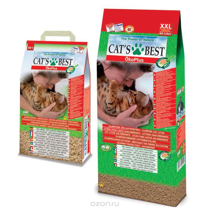Наполнитель для кошачьего туалета Cats Best Eko Plus, древесный, 40 лKB-04Наполнитель для кошачьего туалета Cats Best Eko Plus вырабатывается из необработанной европейской еловой и сосновой древесины, которая берётся из свежеупавших стволов. Применение некондиционной древесины сохраняет здоровые природные лесные ресурсы. Особенности наполнителя для кошачьего туалета Cats Best Eko Plus: экологически чистый и биоразлагаемый на 100%. Вырабатывается из необработанной европейской еловой и сосновой древесины, которая берется из свежеупавших стволов. Применение некондиционной древесины сохраняет здоровые природные лесные ресурсы. Не содержит искусственных химических добавок; очень экономичный. Примерно в 3 раза выгоднее многих других комкующихся наполнителей. Он может существенно дольше оставаться в кошачьем лотке, и тем самым является более экономичной альтернативой многих, как ошибочно полагают, более дешевых наполнителей, что подтверждают сравнительные тесты; прекрасно поглощает неприятные запахи. Неприятный запах...
