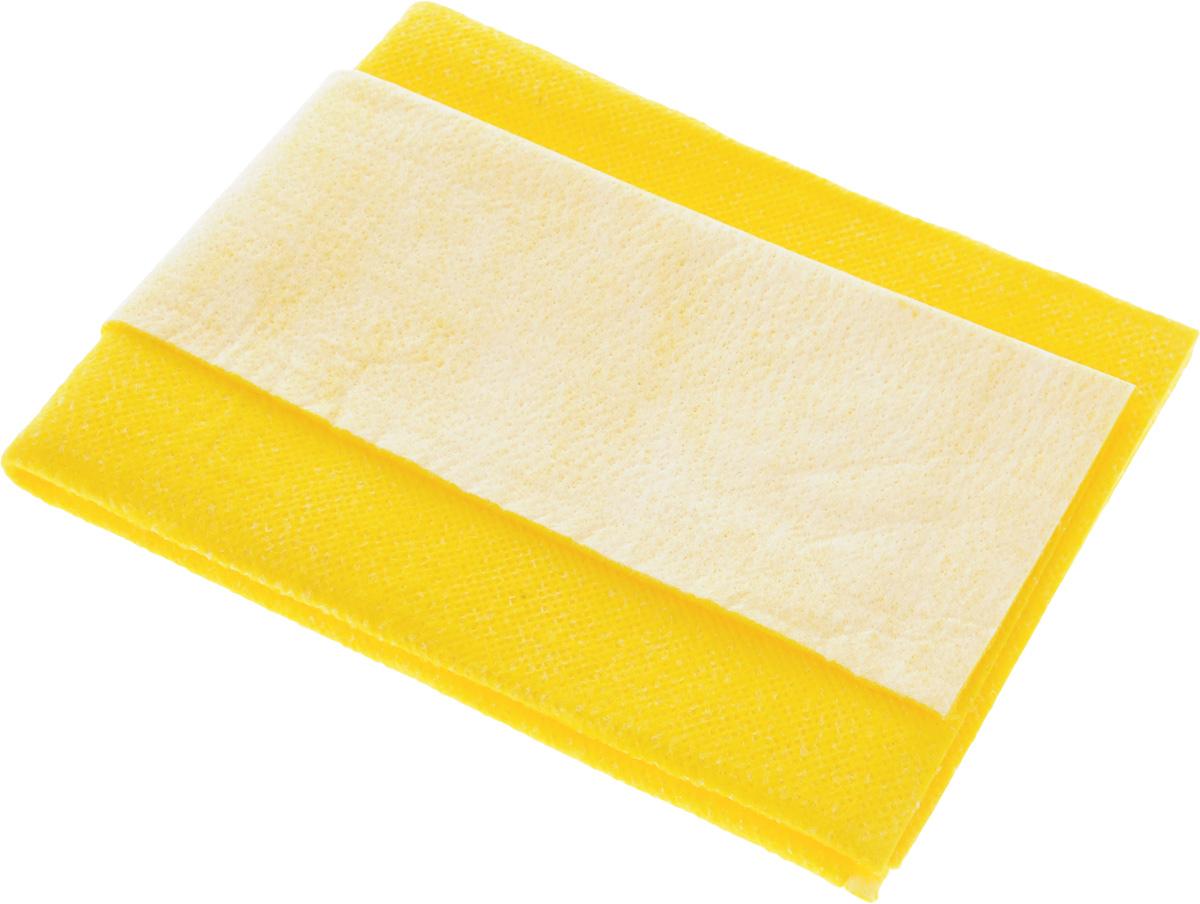 Салфетка для мытья и полировки автомобиля Главдор Комби, цвет: желтый, 40 х 50 смGL-92-006_желтыйСалфетка Главдор Комби выполнена из высококачественного материала и предназначена для мытья автомобиля и других транспортных средств. Отлично моет, легко отжимается, применяется многократно. Хорошо впитывает жидкость, удерживает грязь. Не повреждает лакокрасочное покрытие. Обладает длительной прочностью. Мягкая и удобная в применении. Размер салфетки: 40 х 50 см.