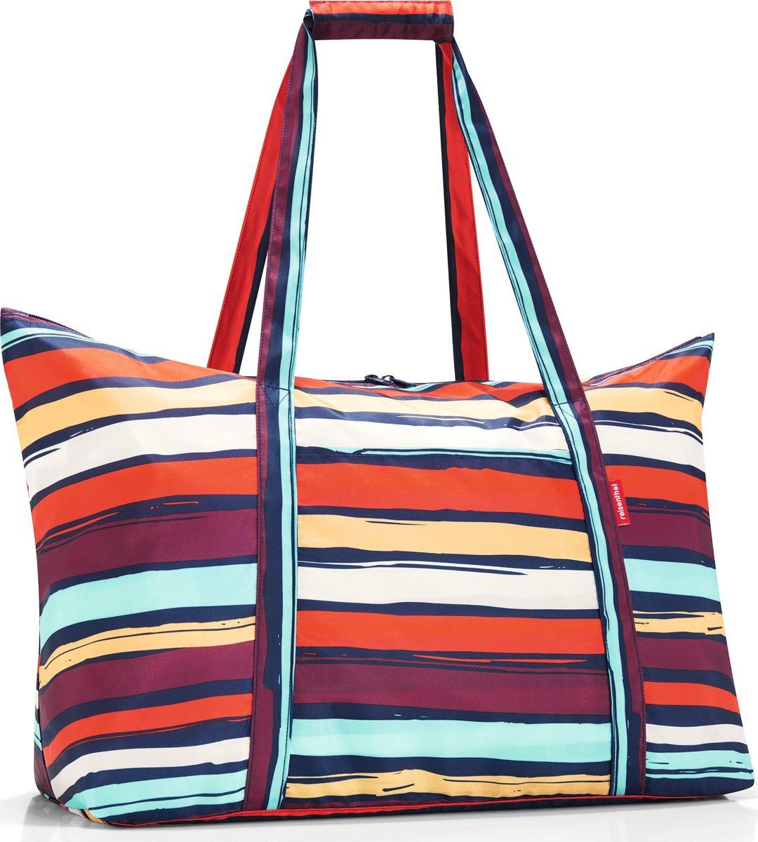 Сумка женская Mini Maxi Travelbag Artist Stripes, цвет: мультиколор. AG3058AG3058Практичная сумка для путешествий. Компактно сворачивается, благодаря чему ее можно взять с собой в поездку в качестве запасной, для приобретенных в пути сувениров и покупок. Также подойдет для похода за продуктами. - складывается в небольшой чехол, удобный для перевозки в сумке или рюкзаке; - предусмотрен внешний кармашек для мелочей; - для удобства ручки сумки можно соединить между собой; - объем – 30 литров.