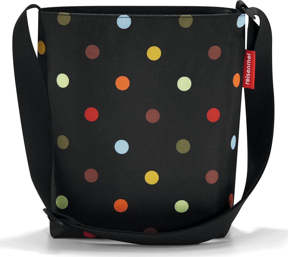 Сумка женская Reisenthel Shoulderbag S, цвет: черный. HY7009HY7009Простая, но очень вместительная сумка на плечо. Сочетание нескольких цветов позволяет носить сумку со множеством самых разных нарядов, не изменяя собственному стилю. Застегивается на молнию. Широкий удобный ремень регулируемой длины.