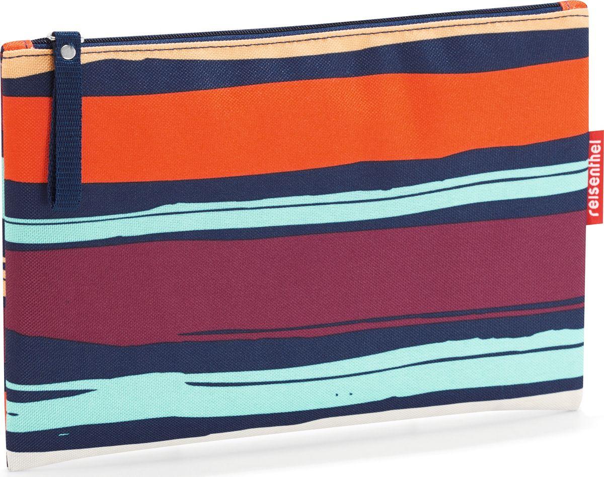 Косметичка женская Reisenthel Case 1 Artist Stripes, цвет: темно-синий, оранжевый. LR3058LR3058Компактная косметичка закрывается на молнию. Подкладка обеспечивает дополнительную прочность. Материал – высококачественный полиэстер. Отлично подойдет для повседневного использования.