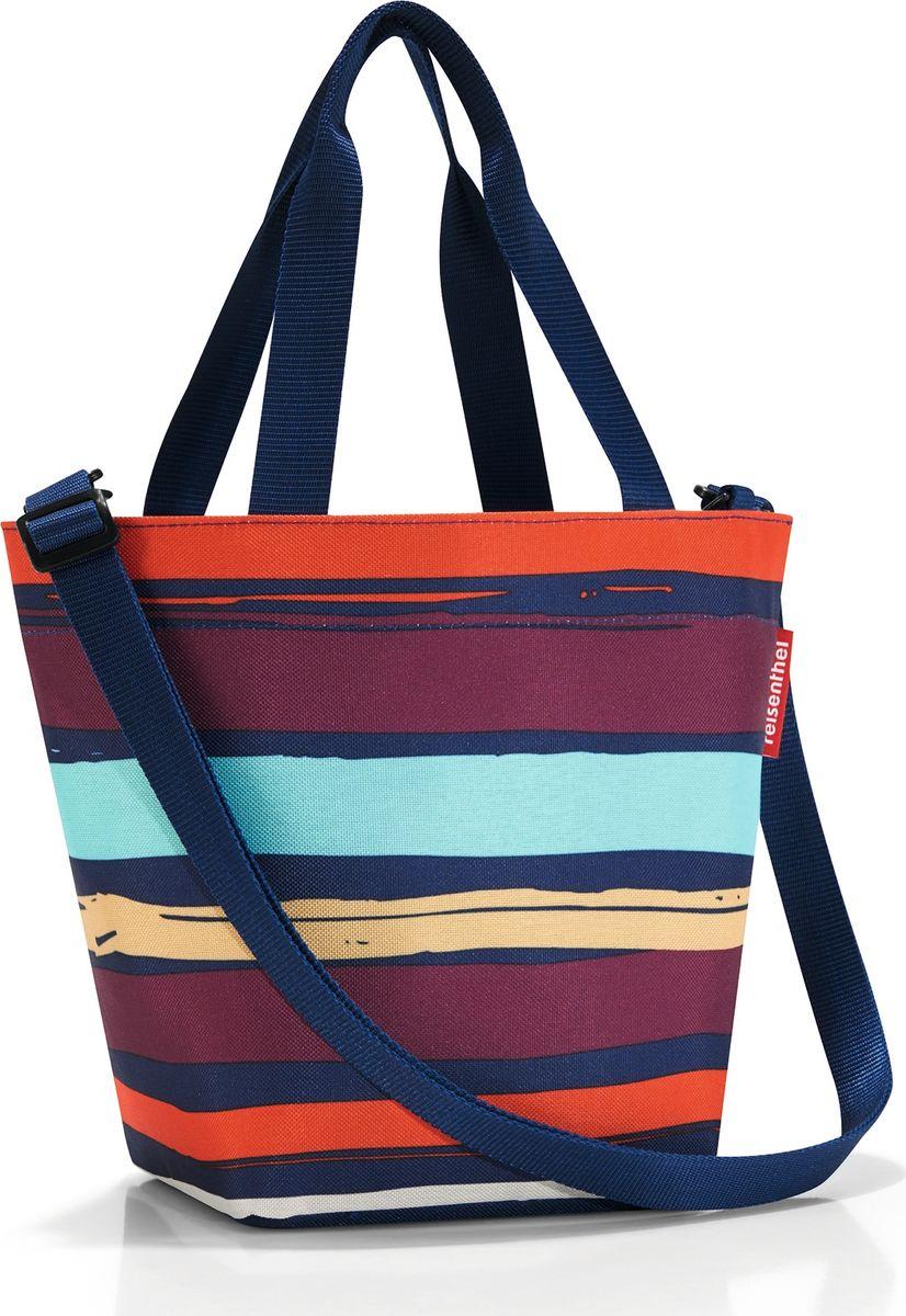 Сумка женская Reisenthel Shopper XS Artist Stripes, цвет: мультиколор. ZR3058ZR3058Симпатичная сумка для повседневного использования: широкие удобные лямки для переноски в руках и удобный плечевой ремешок с регулируемой длиной, который можно отстегнуть. Объем 4 литра позволяет вместить все необходимые мелочи. Застегивается на молнию. Внутри - кармашек на молнии.