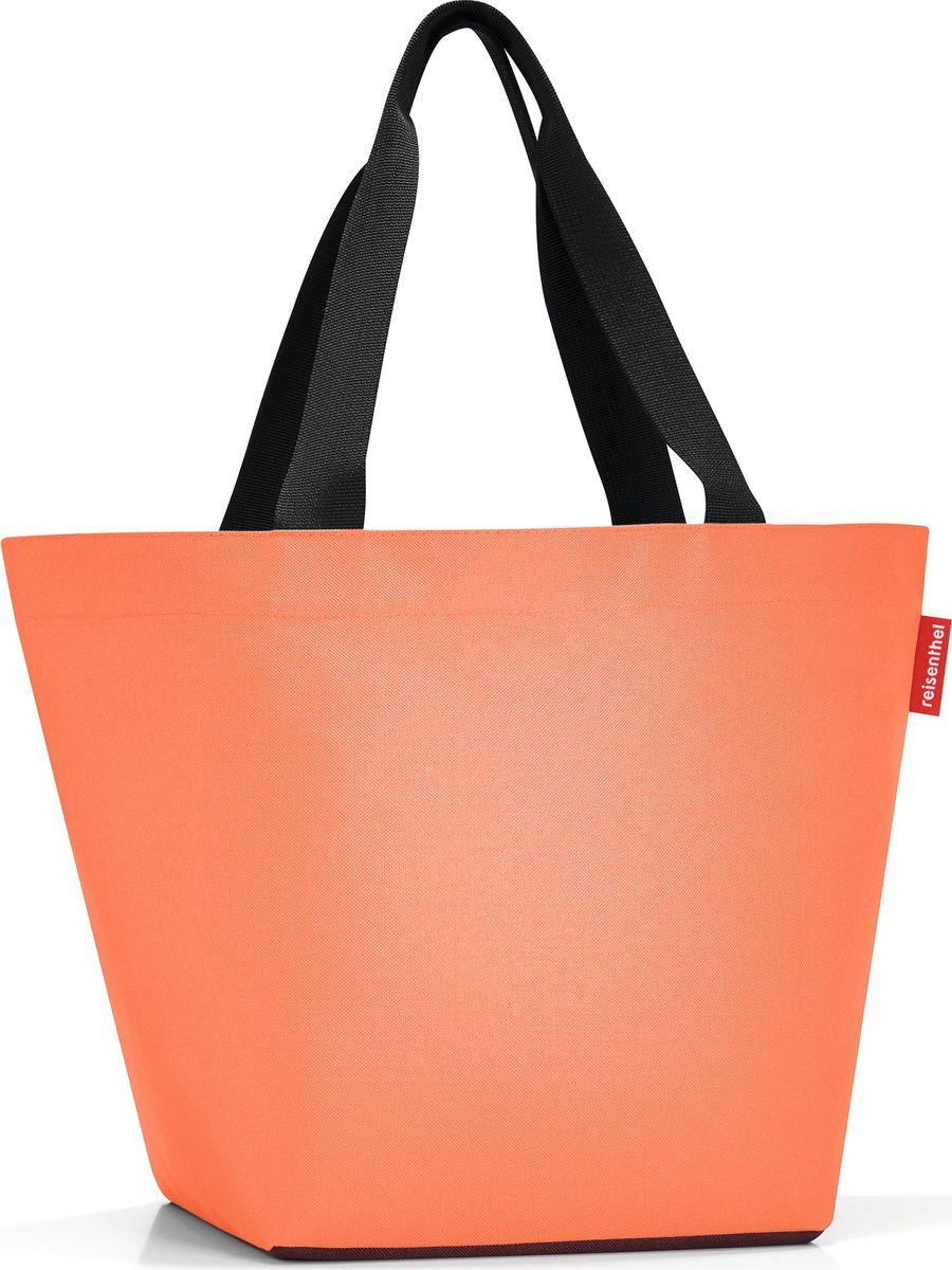 Сумка женская Reisenthel Shopper M, цвет: оранжевый. ZS3054ZS3054Отличная сумка для похода за продуктами: широкие удобные лямки распределяют нагрузку на плече, а объем 15 литров позволяет вместить все самое нужное. Застегивается на молнию. Внутри - кармашек на молнии для мелочей. Специальное широкое днище для большей вместимости.