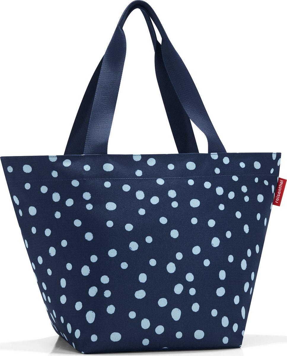 Сумка женская Reisenthel Shopper M, цвет: синий. ZS4044ZS4044Очень комфортная сумка для походов за продуктами и для повседневного использования: - широкие удобные лямки равномерно распределяют нагрузку на плече; - застегивается на молнию; - внутри предусмотрен кармашек на молнии для мелочей; - специальное широкое днище для большей вместимости; - объем – 15 литров.