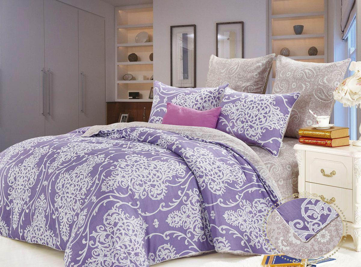 Комплект постельного белья KAZANOV.A. Отис, цвет: фиолетовый, сатин, евроR23-Евро-907-ZКомплекты постельного белья «KAZANOV.A.» из сатина имеют превосходные характеристики: 100% сатин высокого качества, шелковистый блеск, повышенная прочность, насыщенный цвет. Натуральные длинные волокна хлопка, которые используются в производстве материала для постельного белья, имеют высокую плотность, что и увеличивает износостойкость комплектов. Для нанесения рисунка на ткани используется реактивная и принтерная печать из современных экологически безопасных красителей. Постельное белье комфортно для тела, гипоаллергенно, легко впитывает частички влаги, за счёт чего оно хорошо охлаждает, кожа дышит, сон становится крепким и здоровым. Великолепно выполнена строчка, отделка витым кантом, молния на всех наволочках и по ширине пододеяльника, точно подобранный материал ткани-компаньона, простота в эксплуатации- все эти свойства превратили традиционный комплект постельного белья в изысканное произведение искусства. Подарите себе здоровый и спокойный сон вместе с комплектами постельного...