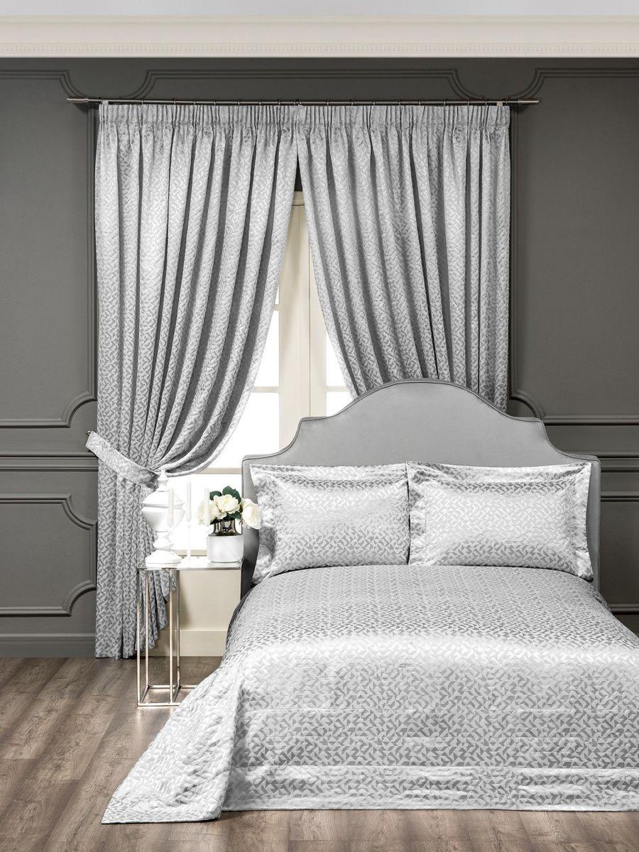 Комплект для спальни Togas Оригами: покрывало 260 х 260 см, 2 наволочки 50 х 70 см, цвет: серый40.12.61.0205