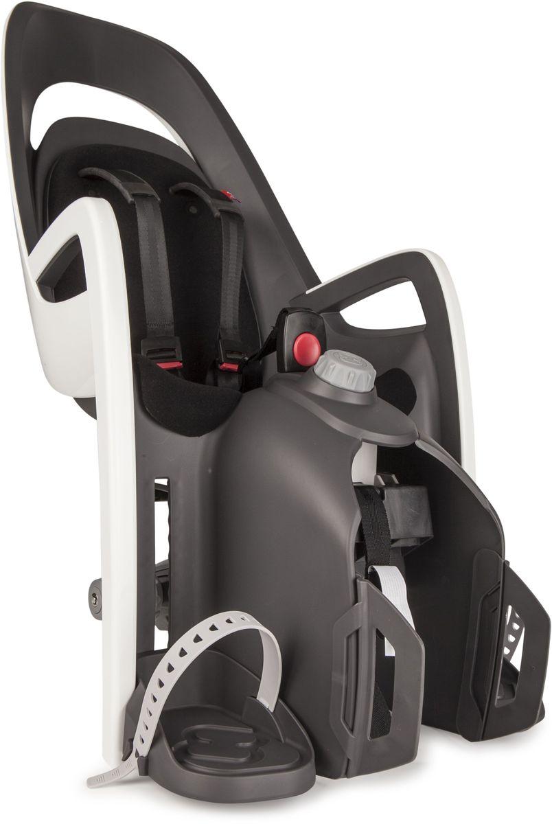 Детское велокресло Hamax Caress W/Carrier Adapter, цвет: серый, белый, черный