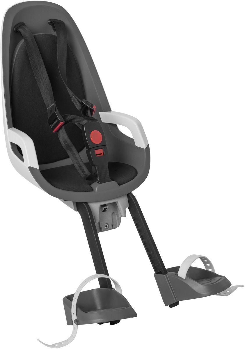 Детское велокресло Hamax Caress Observer, цвет: серый, белый, черный553021Детское велосипедное кресло Hamax Caress Observer рассчитан на перевозку детей от 9 месяцев и по весу не превышающих 15 кг. Представленное кресло крепится перед рулем. Hamax Caress Observer позволяет ребенку видеть перед собой полную картину происходящего. Установка кресла производится на рулевую колонку. Для крепления предусмотрен специальный кронштейн. Труба должна быть от 22 до 40 мм. Велокресло Hamax удобное, с мягкой вставкой и оборудованное ремнями безопасности. Защелка у ремней надежная. Самостоятельно ребенок не сможет расстегнуть застежку. Опоры для ног регулируются по высоте. Детское велокресло имеет небольшой вес- всего 4,3 кг. Позволяет брать ребенка с собой на велосипедные прогулки. Особенности: Крепление для передней части велосипеда Хороший обзор для ребенка Ремни безопасности Надежный замок Мягкий вкладыш Опоры для ног с регулировкой Крепление для труб от 22 до 40 мм
