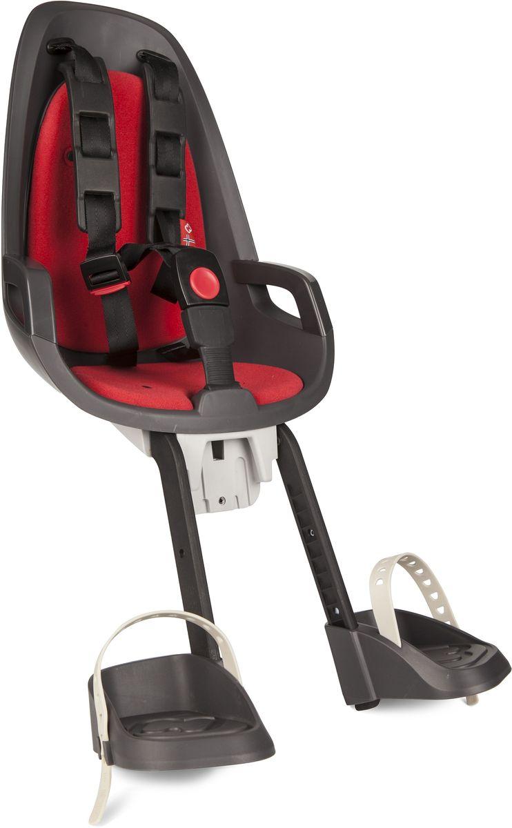 Детское велокресло Hamax Caress Observer, цвет: серый, красный