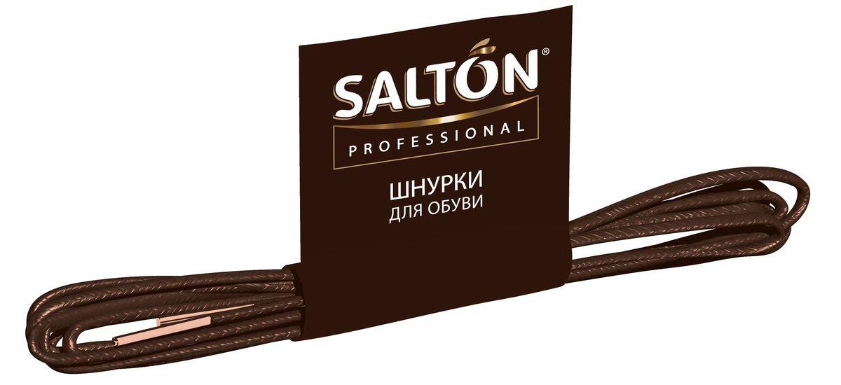 Шнурки тонкие Salton Professional, с пропиткой, цвет: черный, длина 60 см520004261