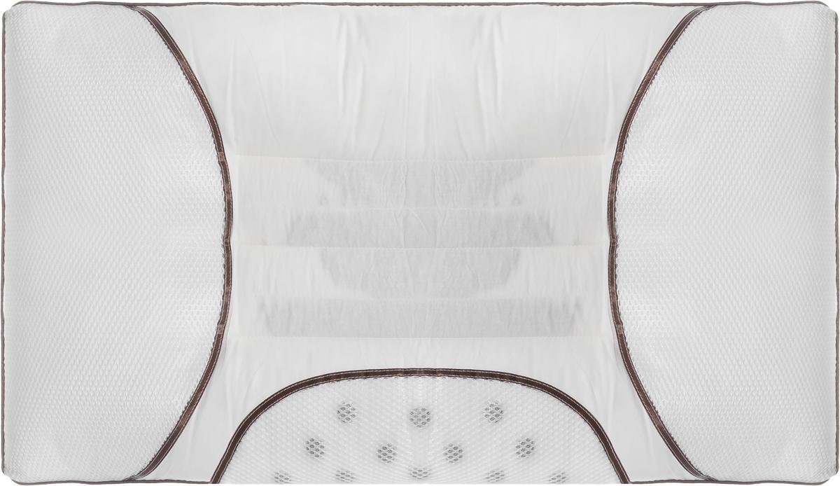 Подушка Smart Textile Магия сна, наполнитель: искусственный лебяжий пух, семена кассии, магниты, 50 х 70 смMK01Подушка Smart Textile Магия сна разработана для людей, заботящихся о своем здоровье и идущих в ногу со временем. Подушка предназначена для правильного и здорового сна. В первую очередь это обусловлено уникальной конструкцией, состоящей из нескольких валиков, которые служат для оптимального естественного положения головы и шеи во время сна. Конструкция позволяет снять излишнее напряжение с шейных позвонков и мышц воротниковой зоны позвоночника, что особенно важно для комфортного сна и скажется на том, как вы проведете новый день. На подушках предусмотрены магнитные аппликаторы, положительно воздействующие магнитными полями на организм в целом. Изделие улучшает микроциркуляцию крови, увеличивает количество кислорода в клетках, повышает иммунитета, что позволяет организму более эффективно бороться с вирусными и простудными заболеваниями. Семена кассии в этой подушке имеют не маловажное значение. Эти семена популярны среди китайских врачей, создают микромассаж мышц шеи и головы,...