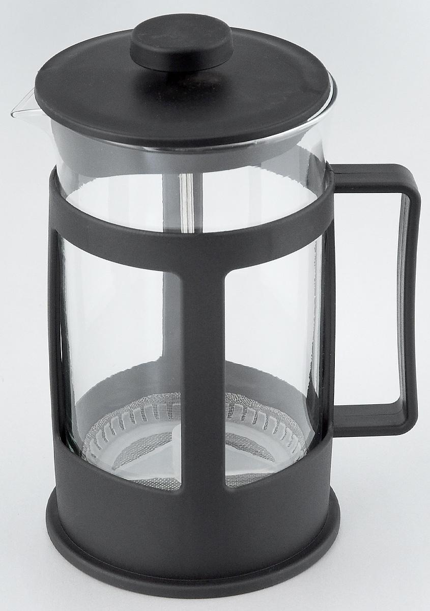 Френч-пресс Foshan Nanhai, 600 млLY600BФренч-пресс Foshan Nanhai поможет приготовить вкусный и ароматный чай или кофе. Корпус выполнен из высококачественного термостойкого полипропилена, а колба - из жаропрочного боросиликатного стекла. Чайник снабжен фильтром из метала с элементом из полипропилена и удобной ручкой. Не рекомендуется использовать в посудомоечной машине и в микроволновой печи. Диаметр (по верхнему краю): 9 см. Высота чайника (без учета крышки): 15,5 см. Высота чайника (с учетом крышки): 17,5 см.