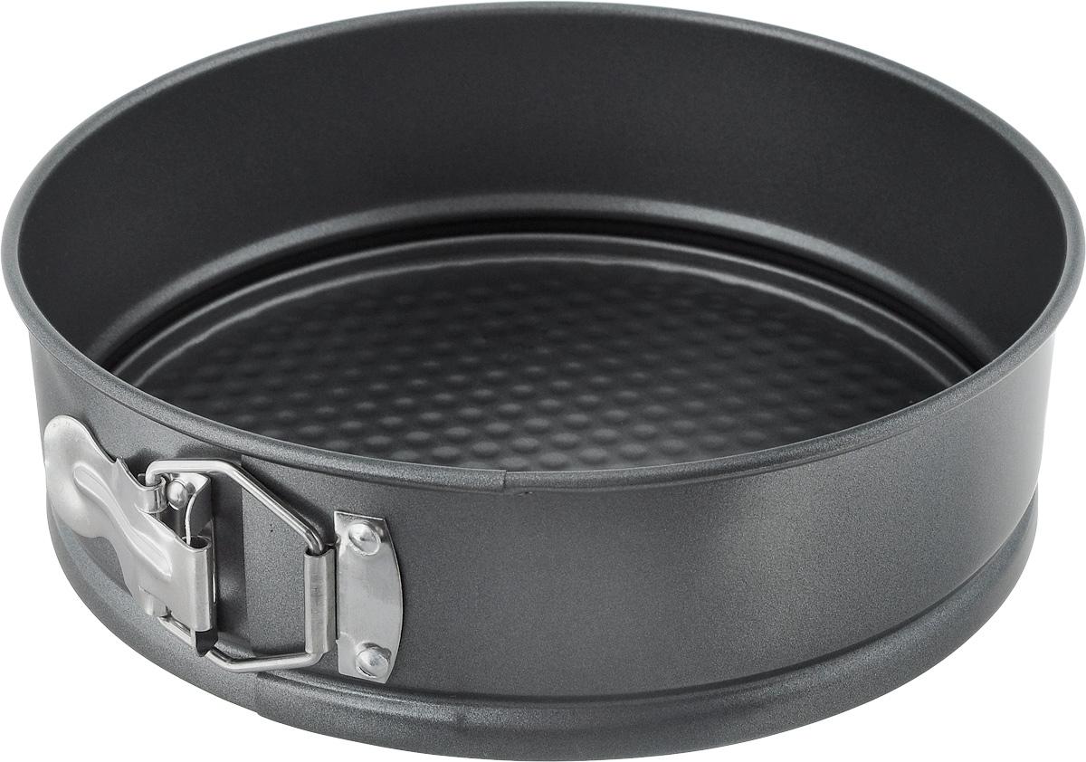 Форма для выпечки Regent Inox Easy, разъемная, круглаа, с антипригарным покрытием, диаметр 22 см93-CS-EA-5-03_серыйКруглая форма для выпечки Regent Inox Easy выполнена из высококачественной углеродистой стали и снабжена антипригарным покрытием, что обеспечивает форме прочность и долговечность. Имеет разъёмный механизм. Форма равномерно и быстро прогревается, что способствует лучшему пропеканию пищи. Данную форму легко чистить. Готовая выпечка без труда извлекается из формы. Форма подходит для использования в духовке с максимальной температурой 250°С. Перед каждым использованием форму необходимо смазать небольшим количеством масла. Чтобы избежать повреждений антипригарного покрытия, не используйте металлические или острые кухонные принадлежности. Можно мыть в посудомоечной машине. Диаметр формы (по верхнему краю): 22 см. Высота формы: 7 см.