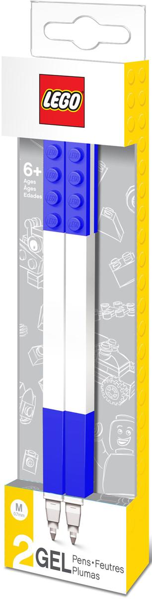 LEGO Набор гелевых ручек цвет чернил синий 2 шт 5150351503Набор гелевых ручек из уникальной коллекции канцелярских принадлежностей LEGO состоит из 2-х ручек с чернилами синего цвета. Ручка имеет пластиковый корпус с резиновой манжеткой, которая снижает напряжение руки. Ручка обеспечивает легкое и мягкое письмо, чернила быстро высыхают, не размазываются.