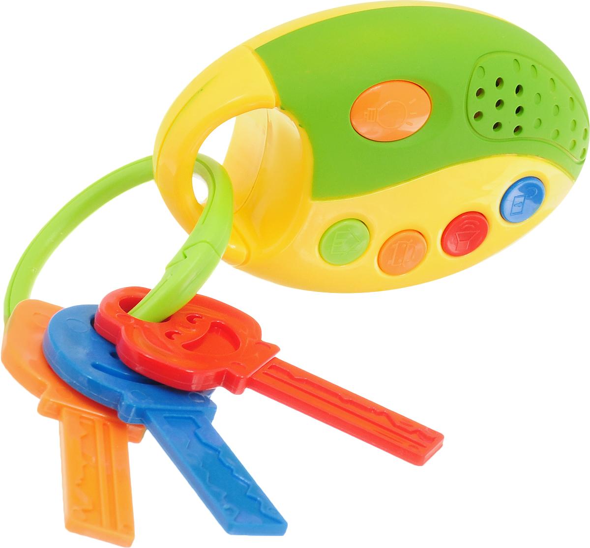 1TOY Развивающая игрушка Автоключики цвет зеленый желтый