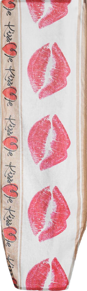 Чехол для гладильной доски Nika Kiss Me, универсальный, 129 х 40 смЧ1_Kiss MeЧехол Nika Kiss Me, выполненный из бязи (100% хлопок), продлит срок службы вашей гладильной доски. Чехол снабжен стягивающим шнуром, при помощи которого вы легко отрегулируете оптимальное натяжение и зафиксируете чехол на рабочей поверхности гладильной доски. Чехол оформлен красивым рисунком, что оживит внешний вид вашей гладильной доски. Размер чехла: 129 х 40 см. Максимальный размер доски: 125 х 36 см.