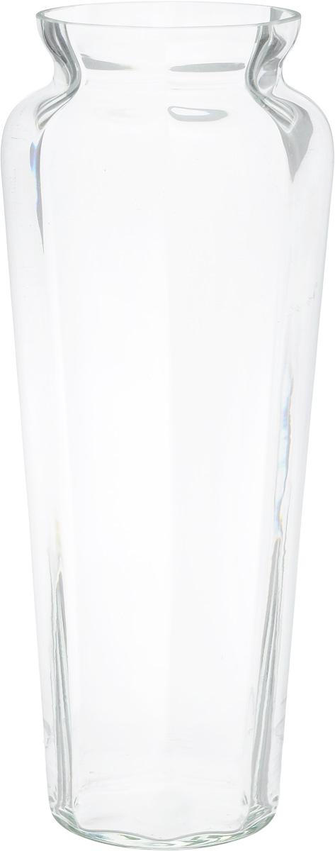 Ваза NiNaGlass Диана, цвет: прозрачный, высота 38 см90-045_прозрачныйВаза NiNaGlass Диана, выполненная из высококачественного стекла, имеет изысканный внешний вид. Такая ваза станет ярким украшением интерьера и прекрасным подарком к любому случаю. Не рекомендуется мыть в посудомоечной машине. Высота вазы: 38 см. Диаметр вазы (по верхнему краю): 12 см.