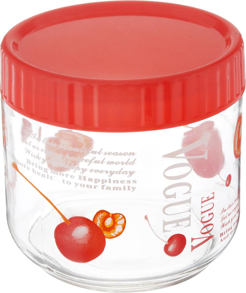 Банка для сыпучих продуктов Foshan Nanhai, цвет: красный, прозрачный, 750 млLY6120_красный, прозрачныйБанка для сыпучих продуктов Foshan Nanhai изготовлена из прочного стекла. Прозрачные стенки позволяют видеть содержимое. Внешняя поверхность декорирована ярким рисунком. Банка снабжена закручивающейся крышкой из прочного пластика. Изделие подходит для хранения разнообразных сыпучих продуктов, таких как крупы, сахар, соль, чай, кофе и многое другое. Банка сбережет ваши продукты от влаги, пыли и насекомых и надолго сохранит их свежими. Можно мыть в посудомоечной машине. Диаметр банки: 11 см. Высота банки (с учетом крышки): 11 см.