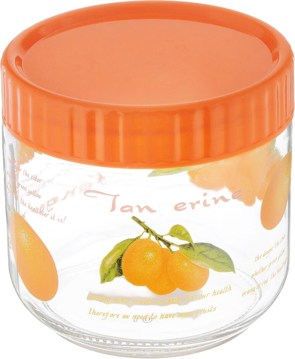 Банка для сыпучих продуктов Foshan Nanhai, цвет: оранжевый, прозрачный, 750 млLY6120_оранжевыйБанка для сыпучих продуктов Foshan Nanhai изготовлена из прочного стекла. Прозрачные стенки позволяют видеть содержимое. Внешняя поверхность декорирована ярким рисунком. Банка снабжена закручивающейся крышкой из прочного пластика. Изделие подходит для хранения разнообразных сыпучих продуктов, таких как крупы, сахар, соль, чай, кофе и многое другое. Банка сбережет ваши продукты от влаги, пыли и насекомых и надолго сохранит их свежими. Можно мыть в посудомоечной машине. Диаметр банки (по верхнему краю): 10 см. Высота банки (с учетом крышки): 11 см.