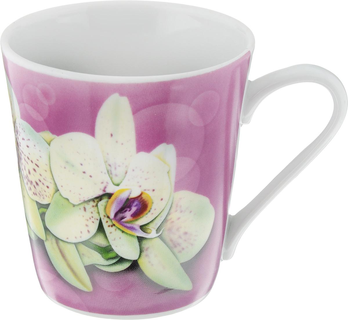 Кружка Классик. Орхидея, цвет: розовый, белый, 300 мл1333019_розовыйКружка Классик. Орхидея изготовлена из высококачественного фарфора. Изделие оформлено красочным рисунком и покрыто превосходной сверкающей глазурью. Изысканная кружка прекрасно оформит стол к чаепитию и станет его неизменным атрибутом. Диаметр кружки (по верхнему краю): 9 см. Высота кружки: 9,5 см.