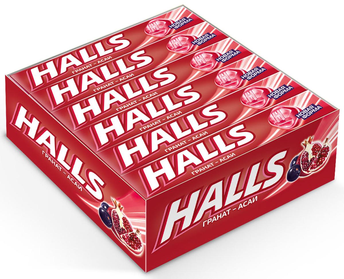 Halls карамель леденцовая со вкусом граната и ягод асаи, 12 пачек по 25 г4021164В напряженные моменты, когда нужна эмоциональная встряска, когда одолевает усталость, когда просто нужно перевести дыхание – попробуйте Halls и дышите свободно. Он как глоток свежего воздуха в любой ситуации, когда это необходимо – бодрит, освежает и позволяет сосредоточиться на главном. В пачке 9 леденцов.