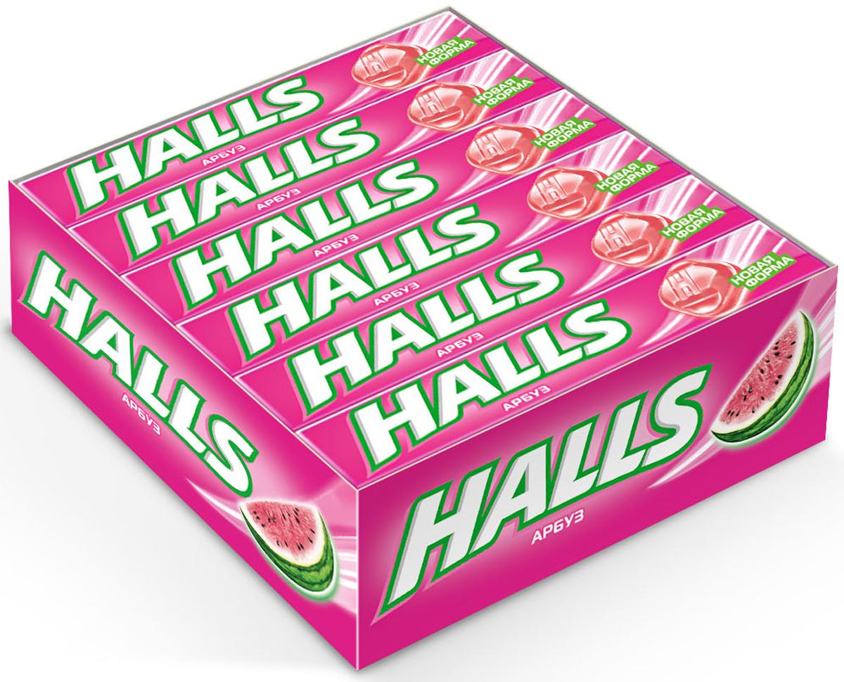 Halls карамель леденцовая со вкусом арбуза, 12 пачек по 25 г