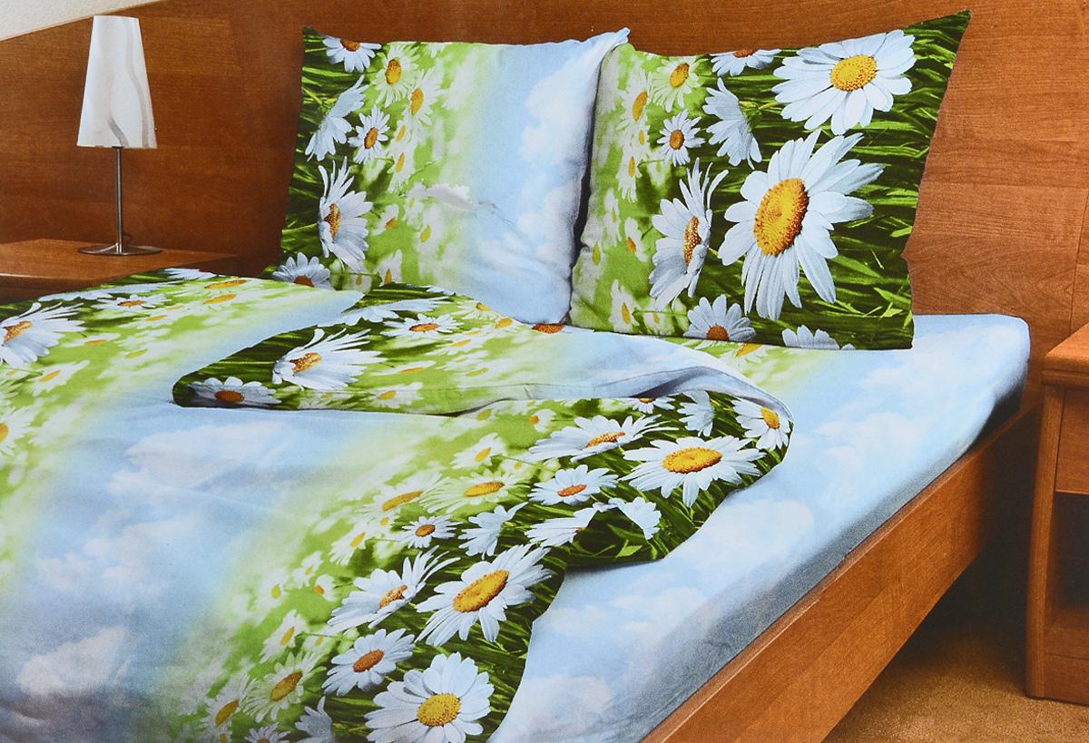 Комплект белья Amore Mio Romashki, 1,5-спальный, наволочки 70x7083927Комплект постельного белья Amore Mio Romashki является экологически безопасным для всей семьи, так как выполнен из бязи (100% хлопок). Комплект состоит из пододеяльника, простыни и двух наволочек. Постельное белье оформлено оригинальным рисунком и имеет изысканный внешний вид. Легкая, плотная, мягкая ткань отлично стирается, гладится, быстро сохнет. Рекомендации по уходу: Химчистка и отбеливание запрещены. Рекомендуется стирка в прохладной воде при температуре не выше 40°С.