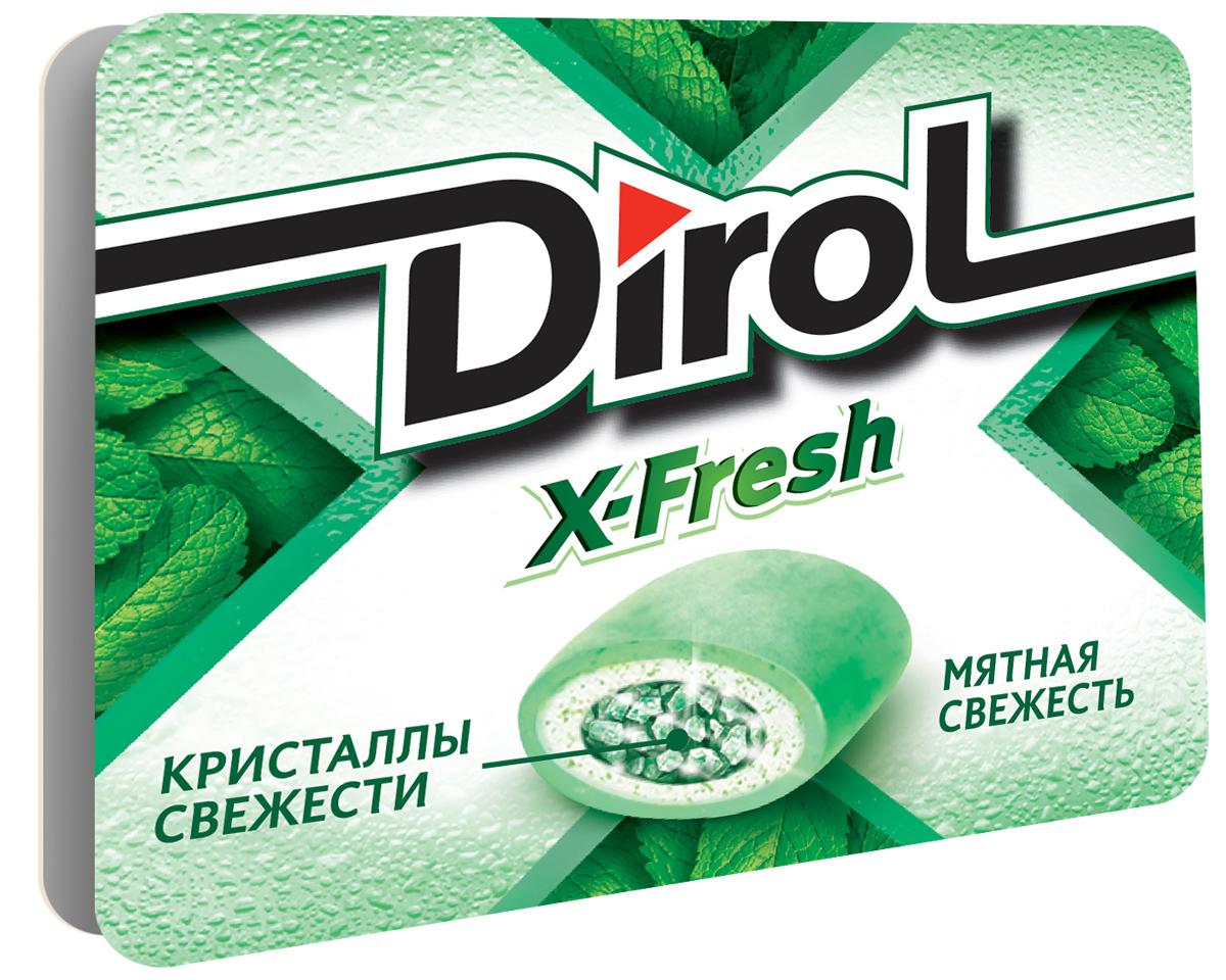 Dirol X-Fresh Мятная свежесть жевательная резинка без сахара, 16 г