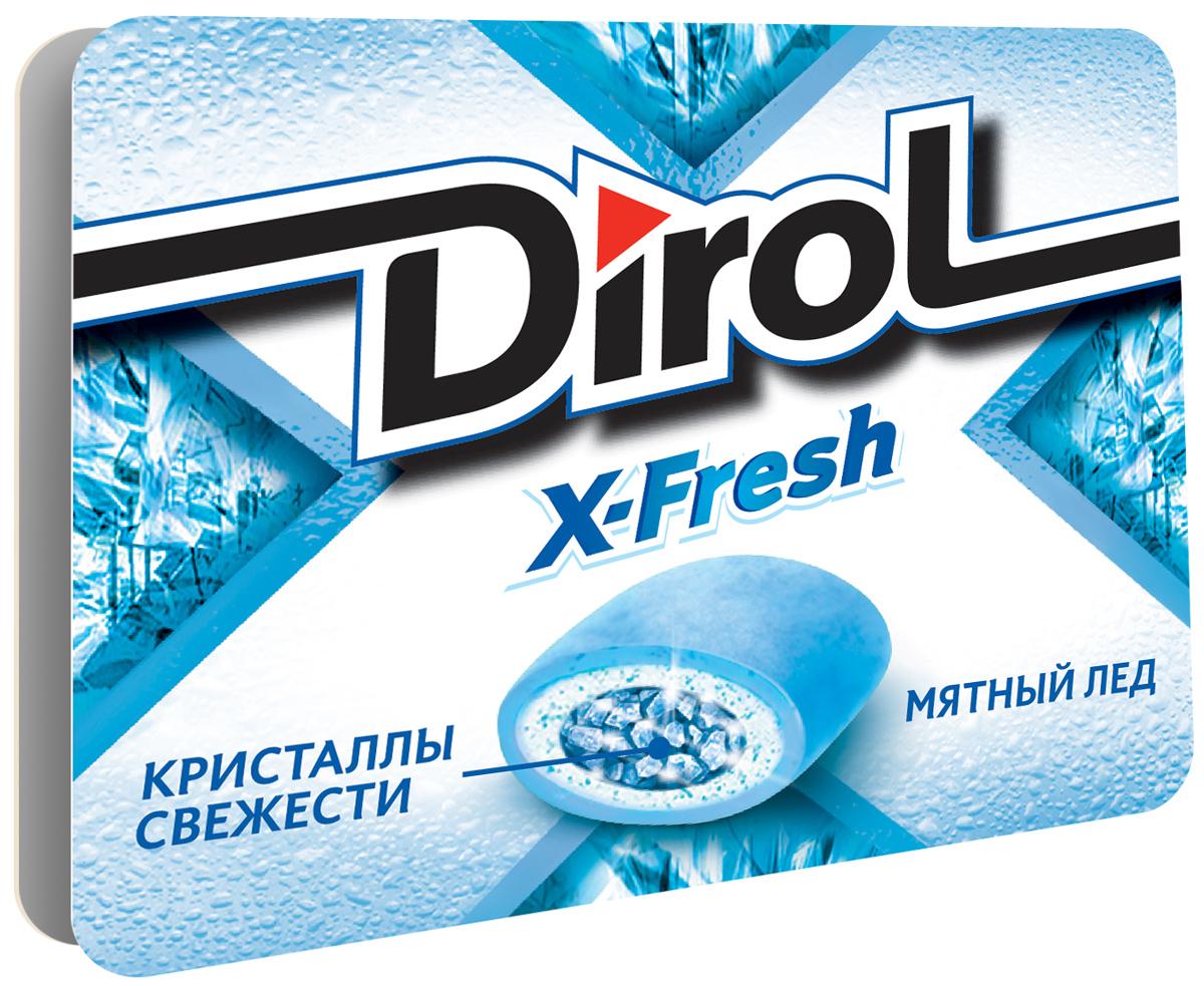 "Dirol X-Fresh ""Мятный лед"" жевательная резинка без сахара, 16 г 4021332"