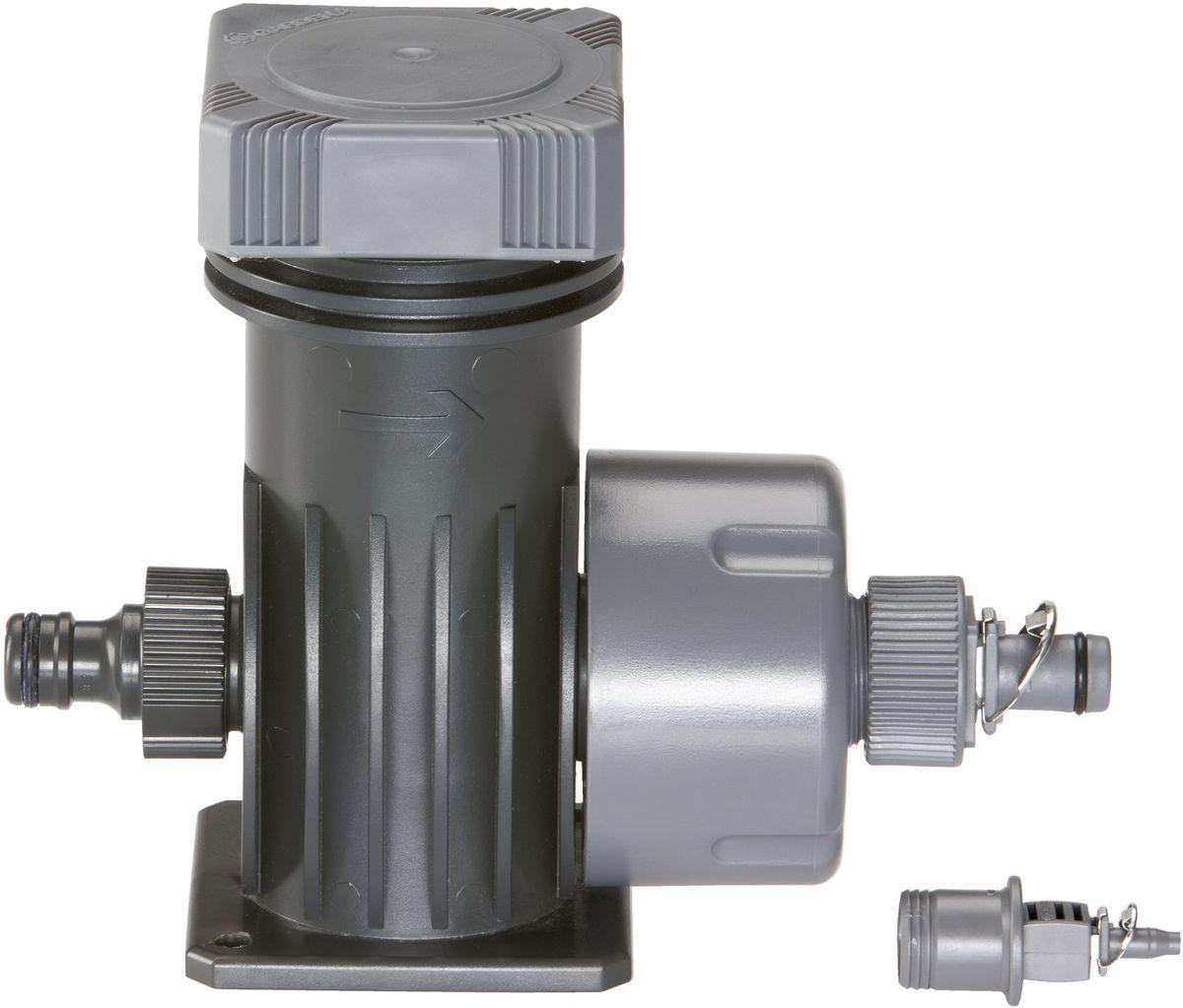 Мастер-блок Gardena, 2000. 01354-20.000.0001354-20.000.00Мастер-блок 2000 GARDENA является основным элементом системы микрокапельного полива GARDENA Micro-Drip-System. За счет снижения начального давления до рабочего давления (около 1,5 бар) он обеспечивает оптимальную производительность подключенных капельниц и наконечников для полива. Производительность мастер-блока - около 2 000 л/ч. Фильтр высокой эффективности обеспечивает оптимальную фильтрацию воды. Мастер-блок снабжен всеми необходимыми соединителями. Благодаря патентованной технологии быстрого подсоединения Quick & Easy, установка мастер-блока чрезвычайно проста.