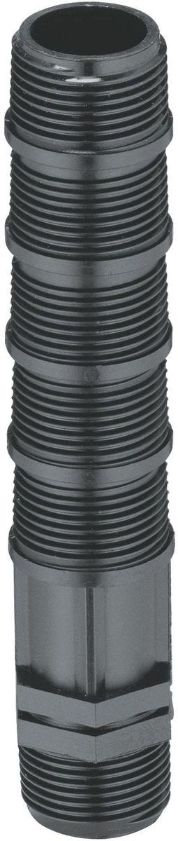 Удлинитель дождевателя Gardena, 3/4 х 3/4. 02743-20.000.0002743-20.000.00Подключение к трубе 25 и 32 мм с помощью удлинителей. Позволяет глубже спрятать трубы под землю и легче регулировать установку дождевателей по высоте 3/4х3/4.