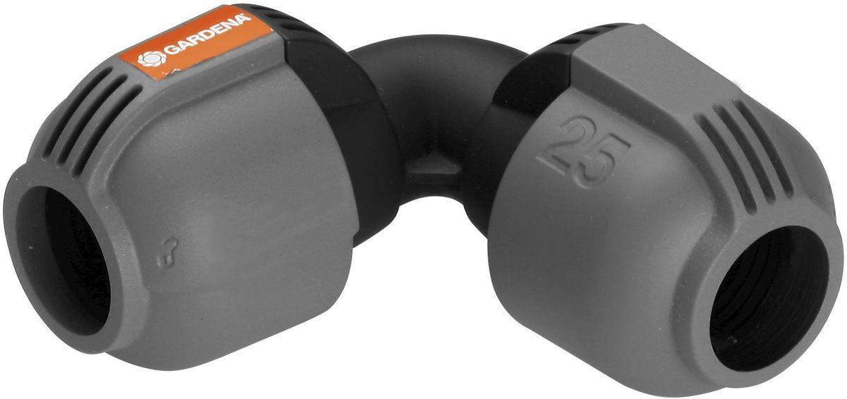 Соединитель Gardena, L-образный 25 мм. 02773-20.000.0002773-20.000.00L-образный соединитель GARDENA 25 мм, входящий в систему дождевания GARDENA Sprinklersystem, служит для изменения направления подающего шланга. Благодаря запатентованной технологии простого соединения Quick & Easy (Быстро и просто) соединение/разъединение труб осуществляется без инструментов, простым поворотом резьбового фитинга на 140°.