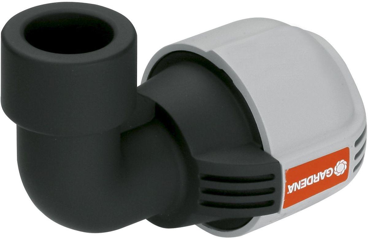 Соединитель Gardena, L-образный 32 мм x 3/4, внутренняя резьба. 02785-20.000.0002785-20.000.00L-образный соединитель GARDENA 32 мм, входящий в систему дождевания GARDENA Sprinklersystem, служит дляподсоединения дождевателей. Благодаря запатентованной технологии простого соединения Quick & Easy (Быстро и просто) соединение/разъединение труб осуществляется без инструментов, простым поворотом резьбового фитинга на 140°