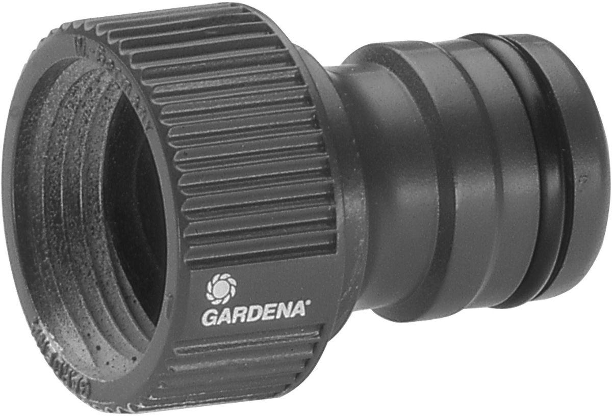 Штуцер Gardena Gardena Профи 3/4. 02801-20.000.0002801-20.000.00Штуцер резьбовой Профи Maxi-Flow GARDENA оптимально подходит для наращивания шлангов, а также может использоваться с насосами. Он позволяет подсоединять шланг с коннектором к водопроводному крану. Штуцер просто навинчивается на кран. Подходит для кранов с резьбой 26,5 мм (G 3/4 дюйма).