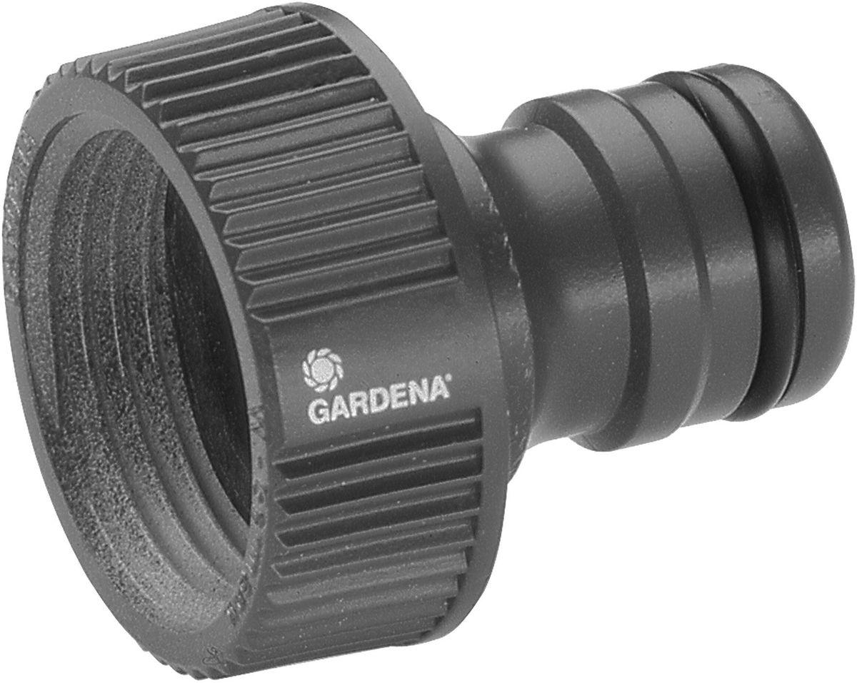 Штуцер Gardena Gardena Профи 1. 02802-20.000.0002802-20.000.00Штуцер резьбовой Профи Maxi-Flow GARDENA оптимально подходит для наращивания шлангов, а также может использоваться с насосами. Он позволяет подсоединять шланг с коннектором к водопроводному крану. Штуцер легко навинчивается на водопроводный кран. Штуцер предназначен для водопроводных кранов с резьбой 33,3 мм (G 1 дюйм), а также любых насосов GARDENA (за исключением насосов арт. 1490-20 и 1466-20).
