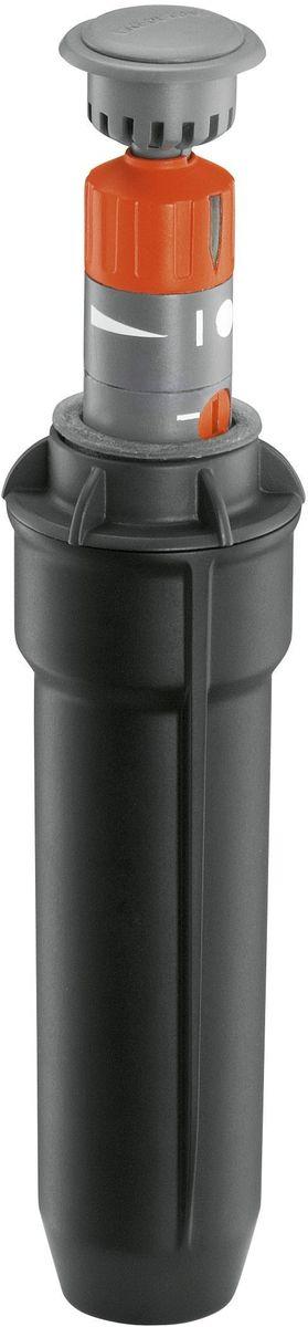Турбодождеватель выдвижной Gardena, T 100. 08201-29.000.0008201-29.000.00Выдвижной турбодождеватель GARDENA T 100, входящий в систему дождевания GARDENA Sprinklersystem, идеально подходит для орошения газонов небольших размеров, до 100 м2. Он может сочетаться с выдвижными турбодождевателями T 200 и 380 (арт. 8203-29 и 8205-29) и выдвижным осциллирующим дождевателем R 140 (арт. 1537-29). Дальность полива можно устанавливать в диапазоне от 4 до 6 м в соответствии с индивидуальной планировкой газона. Сектор полива плавно регулируется с помощью головки дождевателя в диапазоне от 70 до 360°. Поворотный регулятор позволяет точно задать сектор. Встроенный фильтр обеспечивает бесперебойное функционирование. Благодаря установке в трубопроводе дренажного клапана (арт. 2760-20) система дождевания становится морозоустойчивой. Соединение осуществляется при помощи внутренней резьбы 1/2.